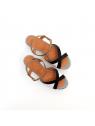 sandales à talons ya-jusla38 ciel /noir Chie mihara